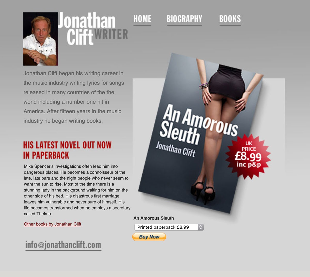 Author Web page example