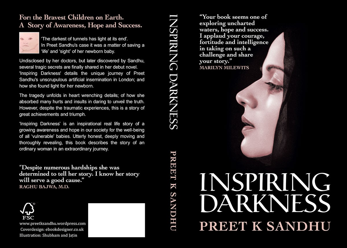 Inspiring Darkness Book Cover Design